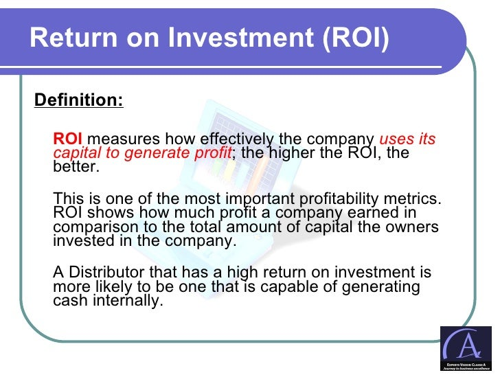 Meaning Of Return On Investment