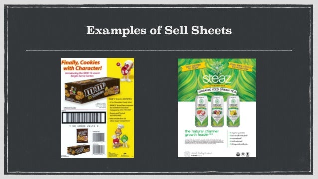sell sheets examples