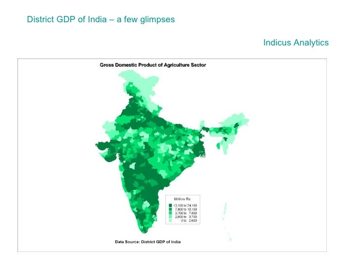 District GDP of India – a few glimpses Indicus  Analytics