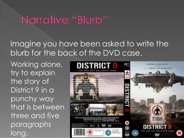 how to write a blurb for a dvd