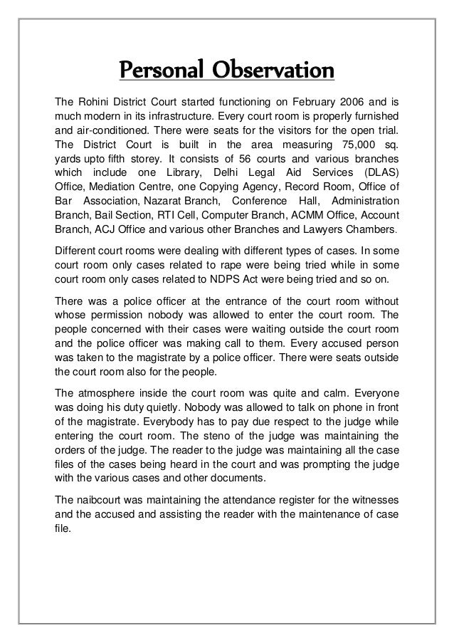 court visit experience essay Polsci - court visit description: political science court visit view more it was a very interesting experience to witness such cases.