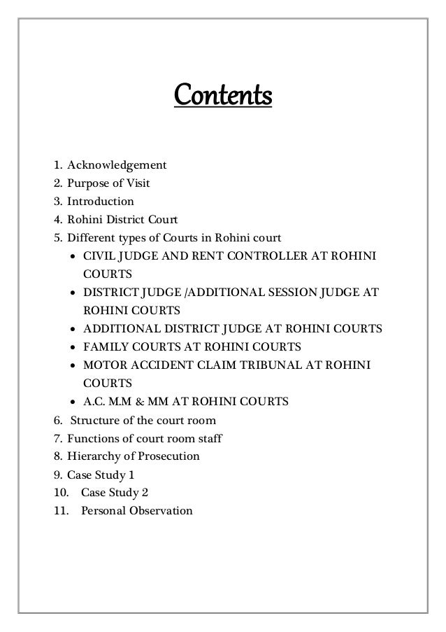 District court visit report