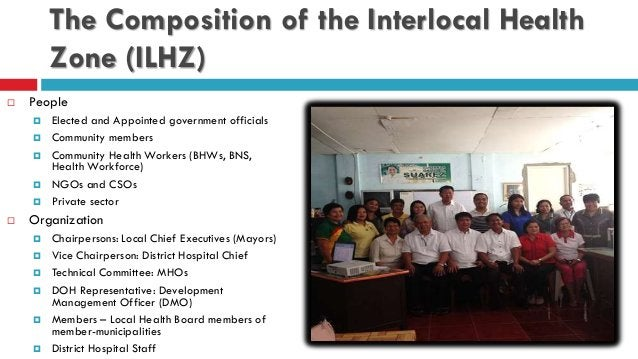 The Composition of the Interlocal Health Zone (ILHZ)  People  Elected and Appointed government officials  Community mem...