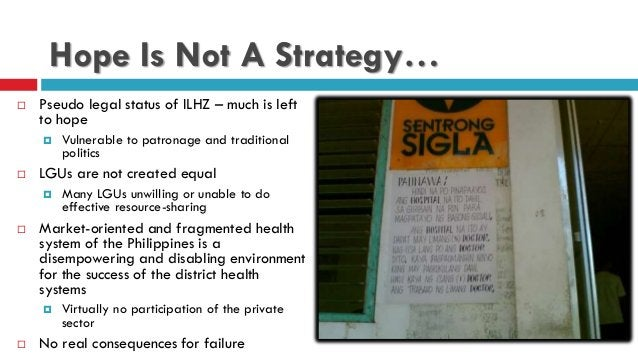 Hope Is Not A Strategy…  Pseudo legal status of ILHZ – much is left to hope  Vulnerable to patronage and traditional pol...