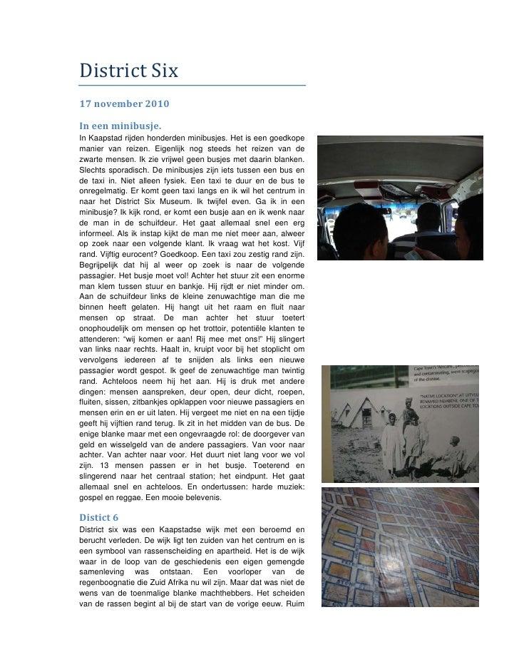 DistrictSix17november2010Ineenminibusje.In Kaapstad rijden honderden minibusjes. Het is een goedkopemanier van re...