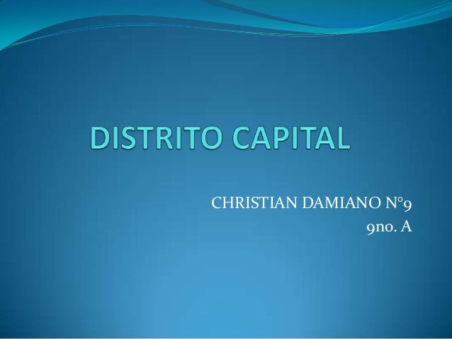 CHRISTIAN DAMIANO N°9                9no. A