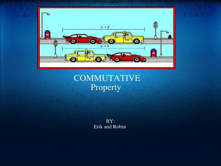 Example Of Commutative Property In Real Life