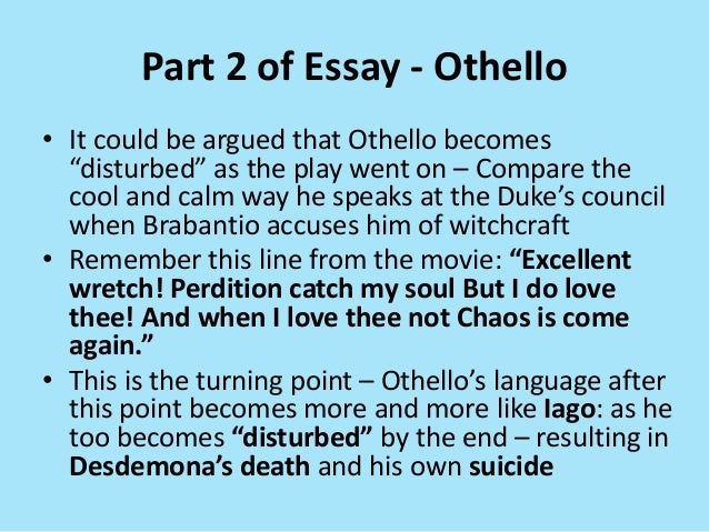 essay on the character of othello