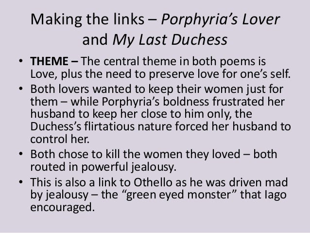 disturbed characters making the links  7 making the links porphyria s lover and my last duchess