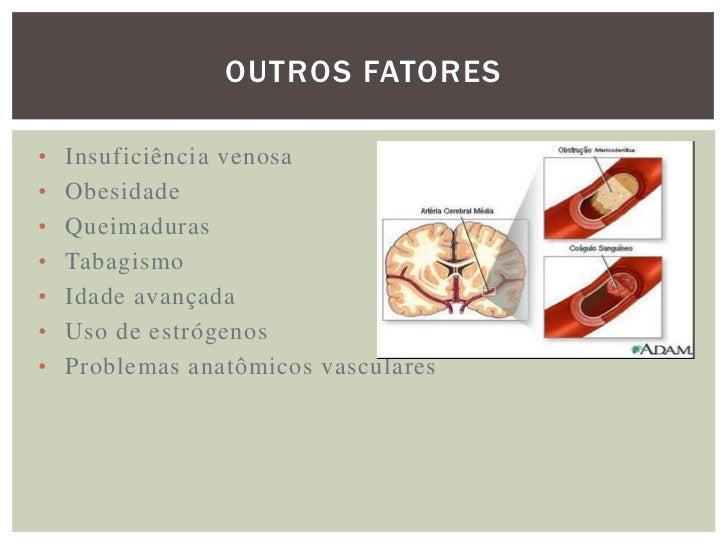 SINTOMATOLOGIA Nas   veias   superficiais,  ocorre aumento   de  temperatura   e dor na área afetada, além de  vermelhidã...