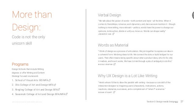 """27@nicoleslaw @susanstuart @fatimahkabba @jennvano More than Design: Code is not the only unicorn skill """"We talk about the..."""