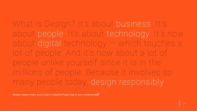 46@designersaccord What is Design? It's about business. It's about people. It's about technology. It's now about digital t...