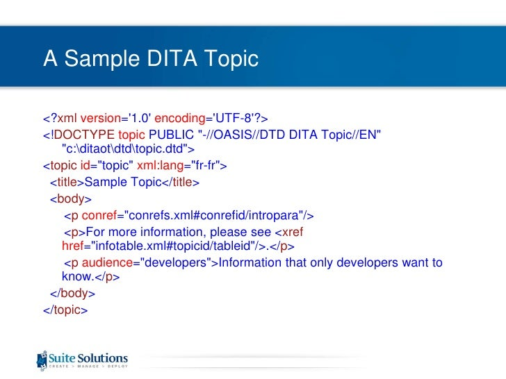 dca426b58bcf ... 6. A Sample DITA Topic br ...
