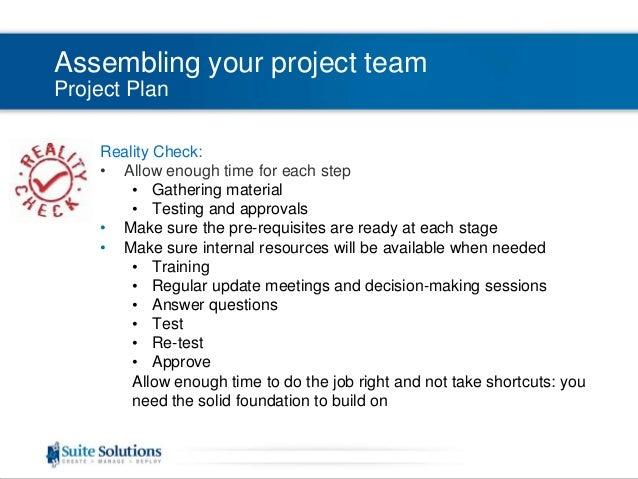 dita quick start webinar series building a project plan