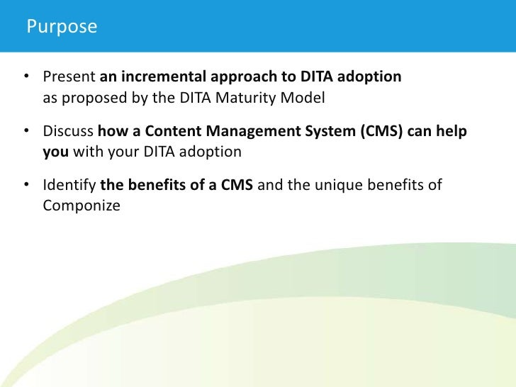 60e6d352a183 DITA Adoption   the Benefits of a CMS