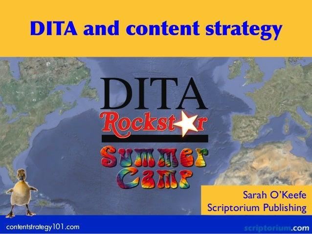 contentstrategy101.comSarah O'KeefeScriptorium PublishingDITA and content strategy
