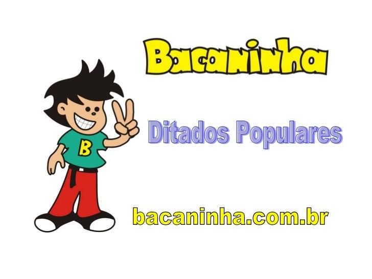 bacaninha.com.br Ditados Populares
