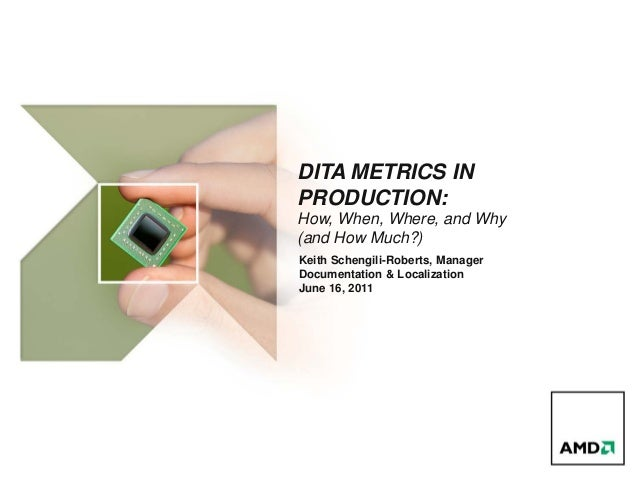 DITA METRICS INPRODUCTION:How, When, Where, and Why(and How Much?)Keith Schengili-Roberts, ManagerDocumentation & Localiza...