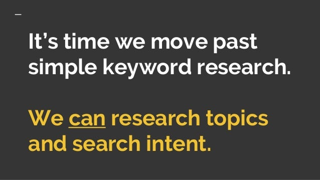 Ditch the Keyword Based Content Strategy