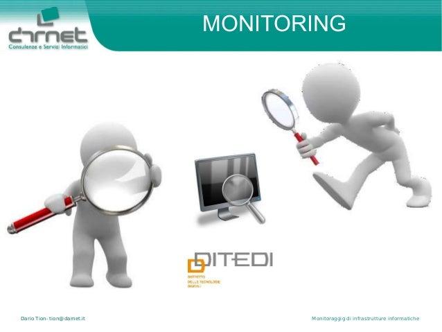 Dario Tion- tion@darnet.it Monitoraggig di infrastrutture informatiche MONITORING