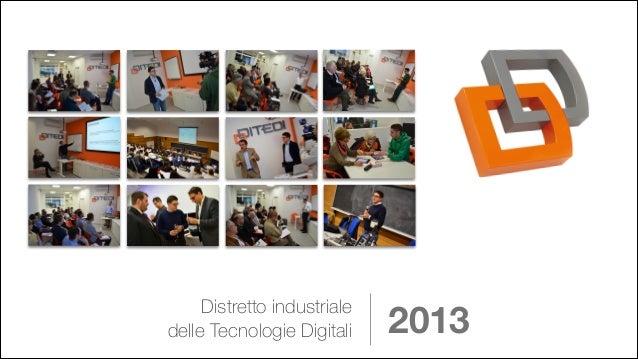 Distretto industriale delle Tecnologie Digitali  2013