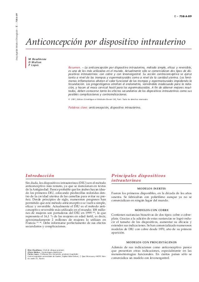 Introducción Sin duda, los dispositivos intrauterinos (DIU) son el método anticonceptivo más remoto, ya que se mencionan e...