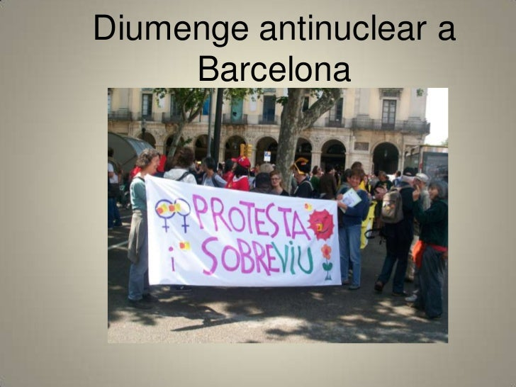 Diumenge antinuclear a Barcelona<br />