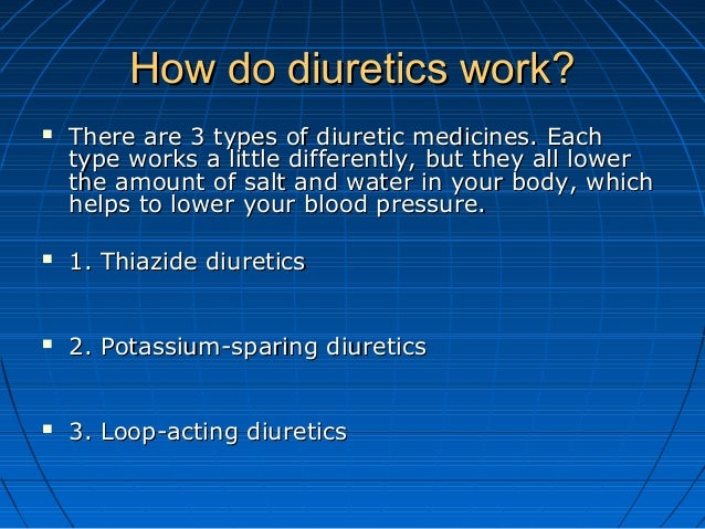what do diuretics do to the body