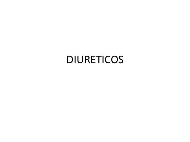 DIURETICOS