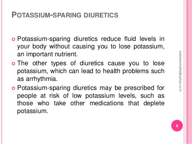 what are the health risks of diuretics