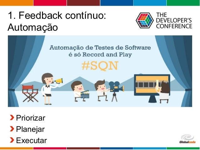 Globalcode – Open4education 1. Feedback contínuo: Automação Priorizar Planejar Executar