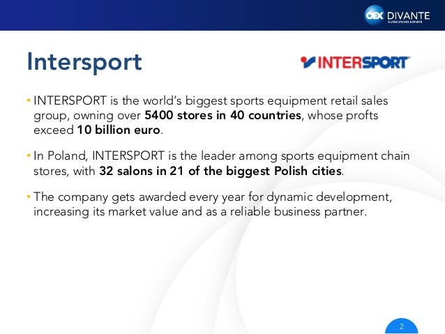 INTERSPORT e-Commerce with Divante Slide 2