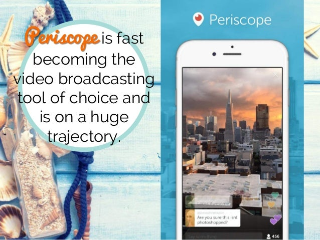 Periscope is fast becoming the video broadcasting tool of choice and is on a huge trajectory.