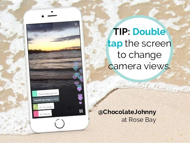 TIP: Double tap the screen to change camera views. @ChocolateJohnny at Rose Bay