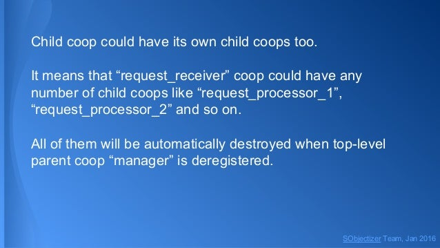 """Child coop could have its own child coops too. It means that """"request_receiver"""" coop could have any number of child coops ..."""
