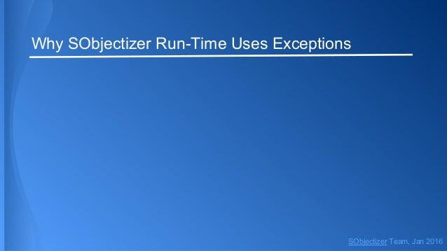Dive into SObjectizer 5.5. Fourth part. Exception Slide 3