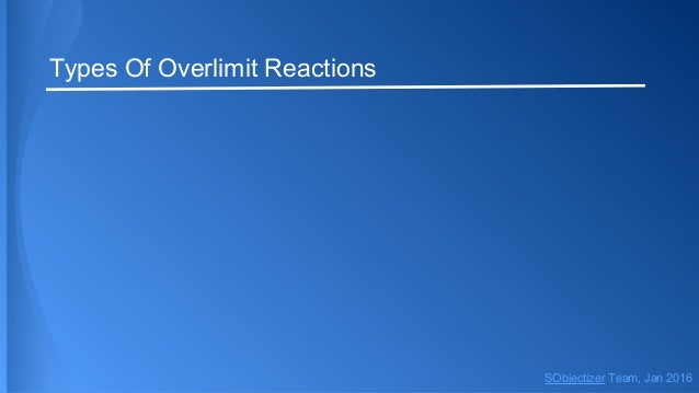 Types Of Overlimit Reactions SObjectizer Team, Jan 2016