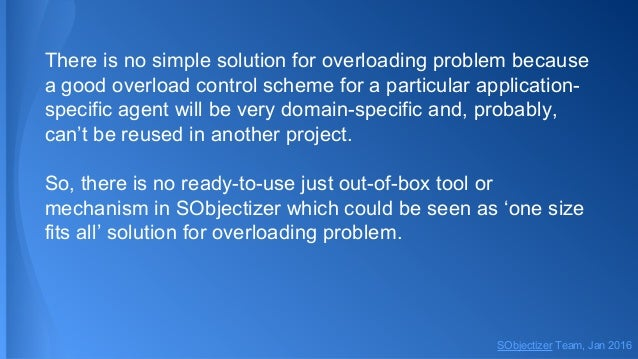 There is no simple solution for overloading problem because a good overload control scheme for a particular application- s...