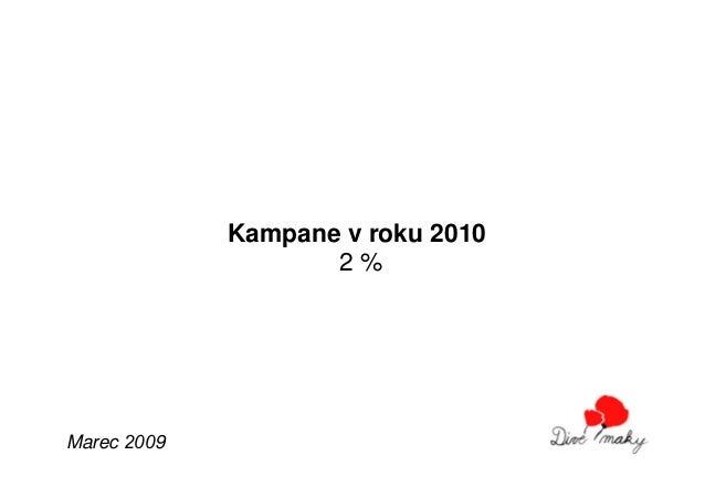 Kampane v roku 2010                    2%Marec 2009