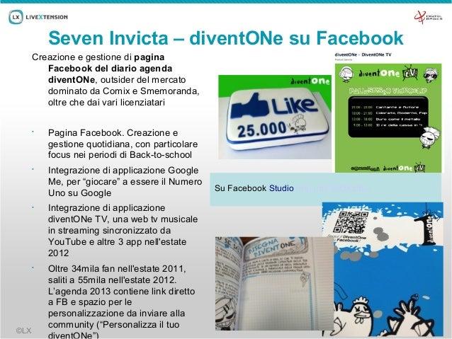 Seven Invicta – diventONe su Facebook      Creazione e gestione di pagina         Facebook del diario agenda         diven...