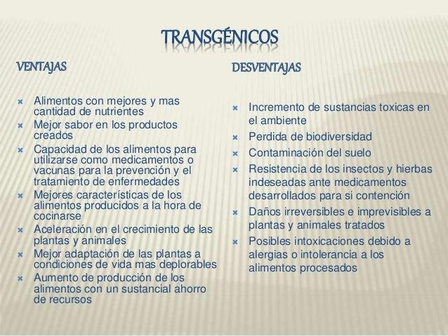 Divergenico y transgenico - Ventajas alimentos transgenicos ...