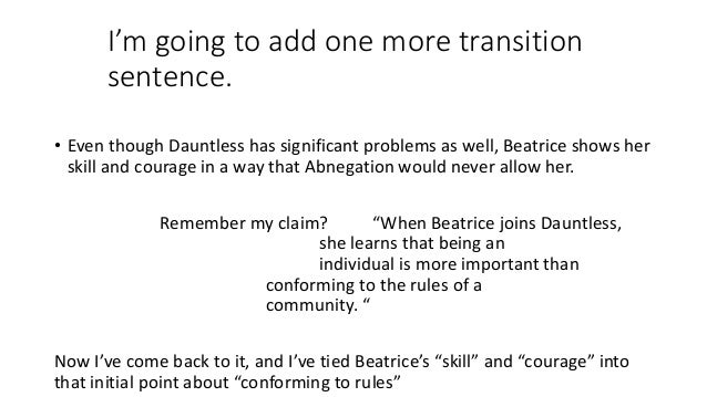 Sentence with dauntless