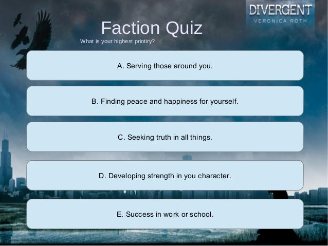 Divergent character quiz