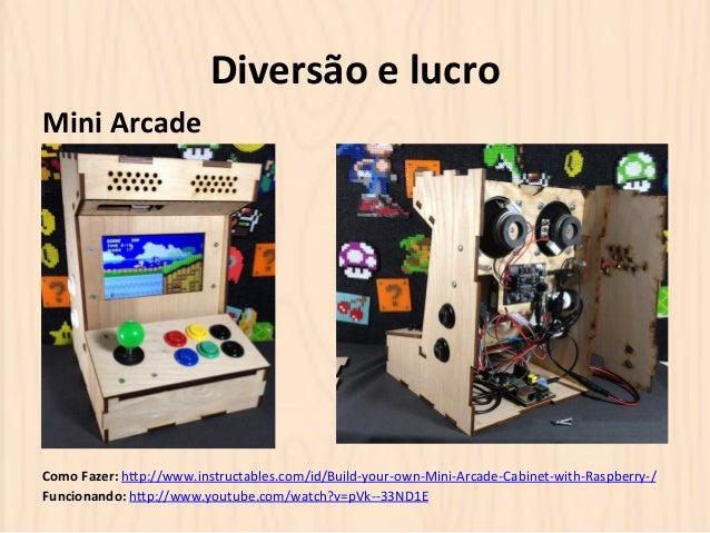 Diversão  e  lucro  Mini  Arcade  Como  Fazer:  hOp://www.instructables.com/id/Build-‐your-‐own-‐Mini-‐Arcade-‐Cabine...
