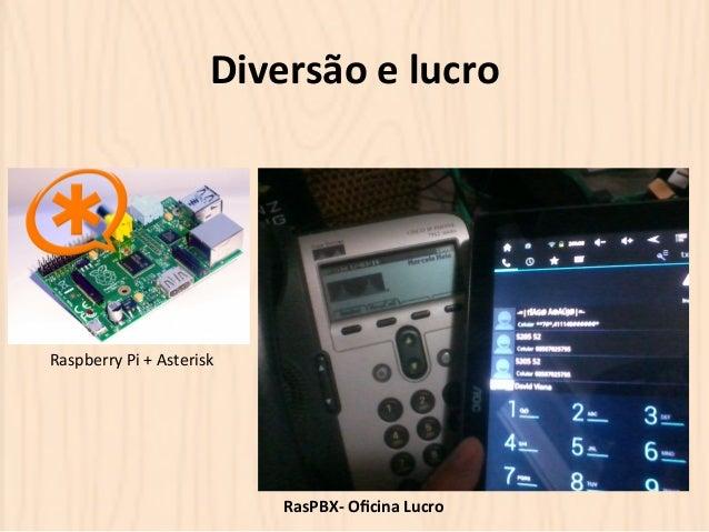 Diversão  e  lucro  RasPBX-‐  Oficina  Lucro  Raspberry  Pi  +  Asterisk