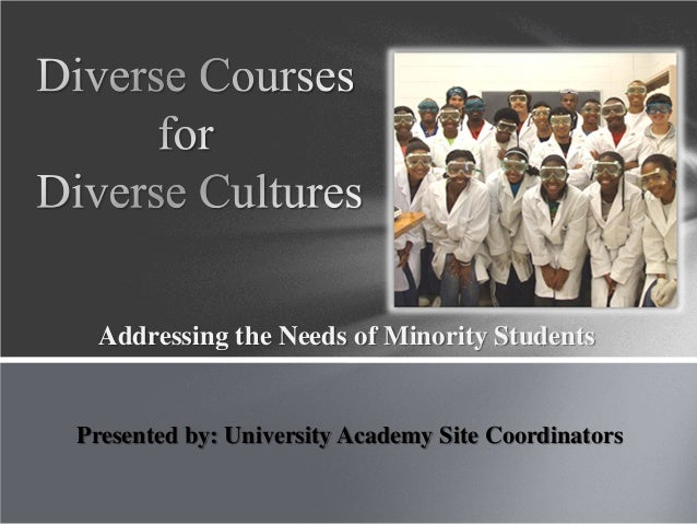 Addressing the Needs of Minority Students Presented by: University Academy Site Coordinators