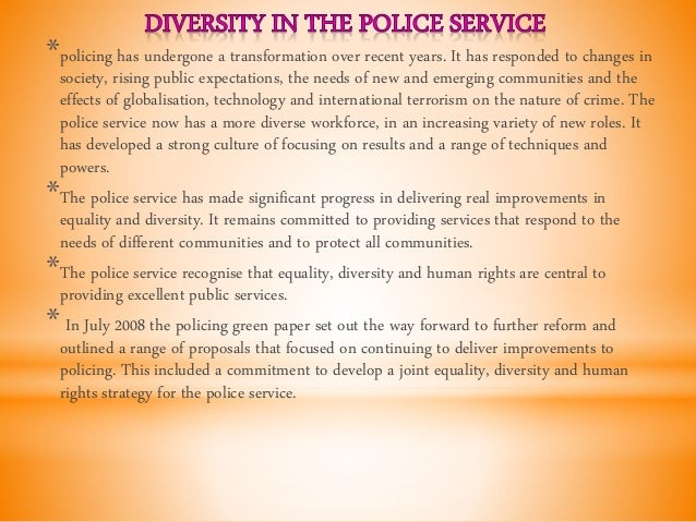 Police powers in the public services