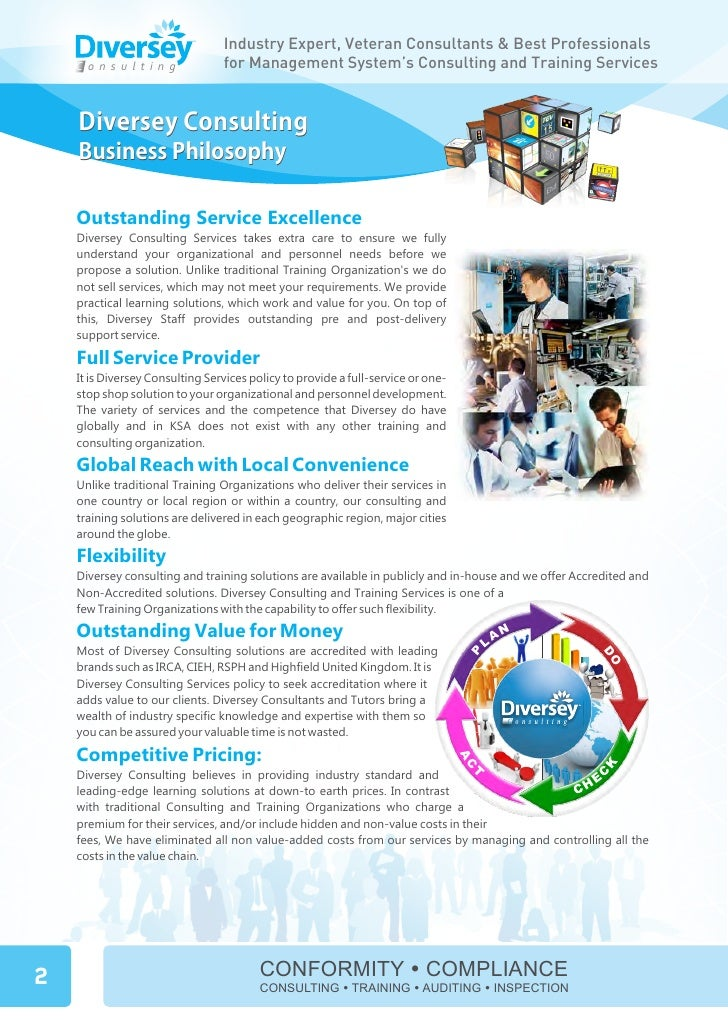 Diversey consulting product guide Slide 3