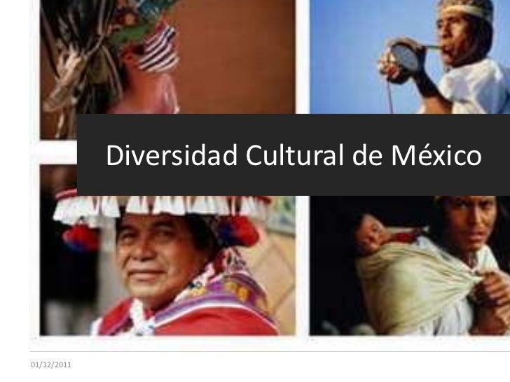 Diversidad Cultural de México01/12/2011