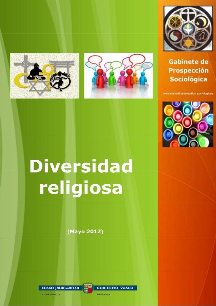 Diversidad religiosa   (Mayo 2012)